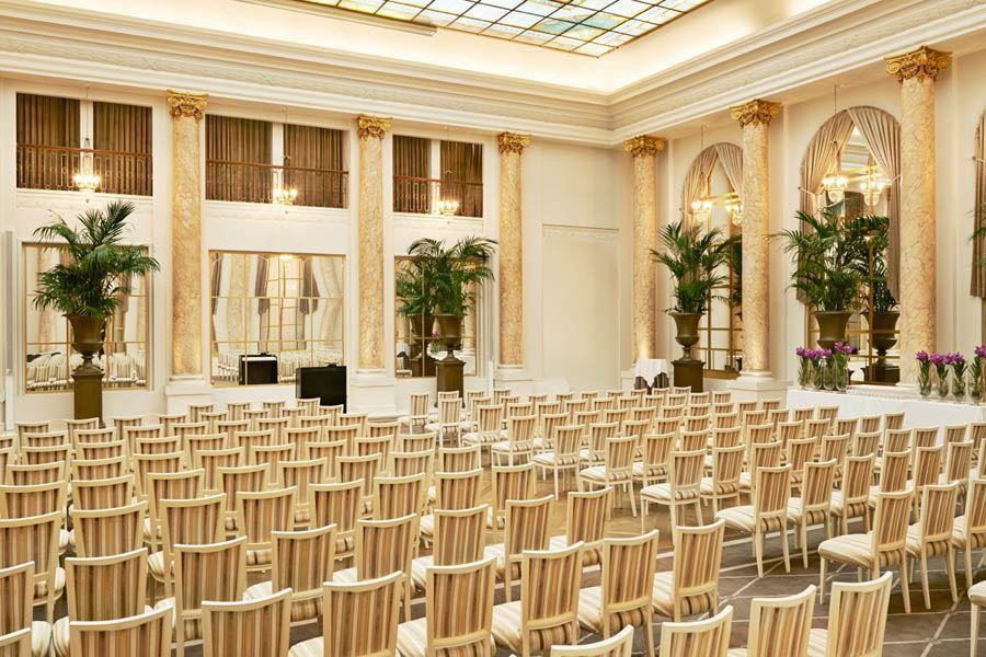 Palm Court conference set up